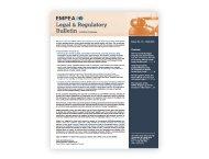Legal & Regulatory Bulletin – Issue No. 15, Fall 2015